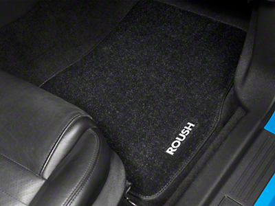 Roush Embroidered Front & Rear Floor Mats - Dark Charcoal (05-09 All)