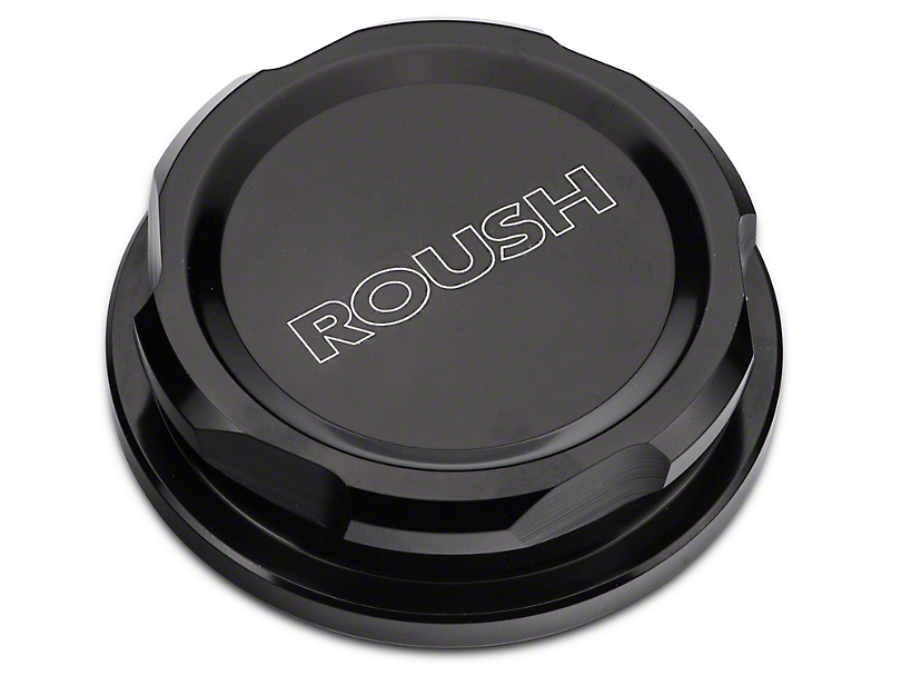 Roush Black Anodized Billet Oil Cap (79-18 All, Excluding EcoBoost)