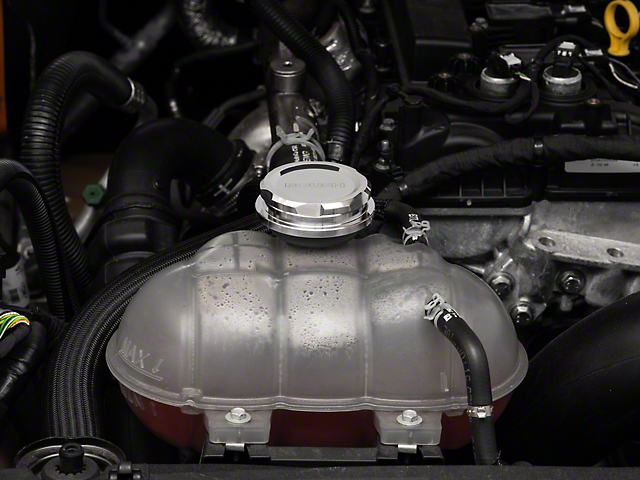 Roush Billet Radiator Cap; Polished (96-21 All)