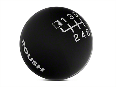 Roush 6-Speed Skift Knob - Black (11-14 GT, V6)