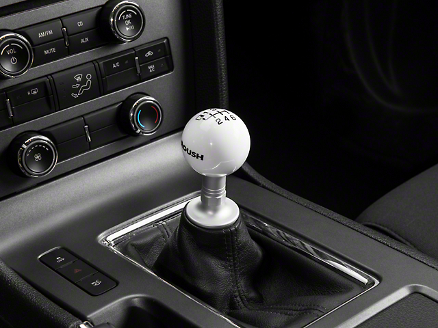Roush 6-Speed Skift Knob - White (11-14 GT, V6)