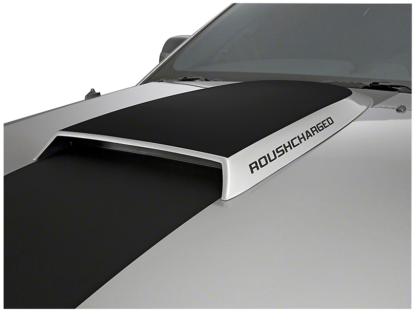 Roush ROUSHcharged Hood Scoop Decal - Gunmetal (05-09 All)