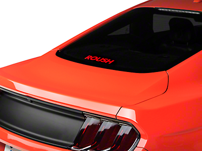 Roush Rear Window Decal - Red (79-18 All)