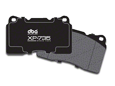 DBA XP+735 Circuit Performance Brake Pads - Rear Pair (15-18 GT, EcoBoost, V6)