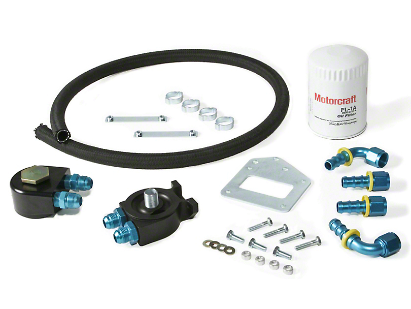 Maximum Motorsports Standard Duty Oil Filter Relocation Kit (99-01 Cobra; 03-04 Mach 1)