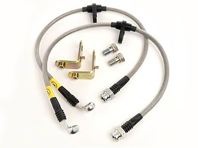 Maximum Motorsports Stainless Steel Brake Hose Kit - Front (05-14 w/ ABS, Excluding 13-14 GT500)