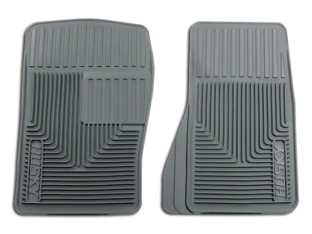 Husky Heavy Duty Front Floor Mats; Gray (87-04 All)