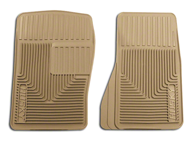 Husky Heavy Duty Front Floor Mats - Tan (87-04 All)