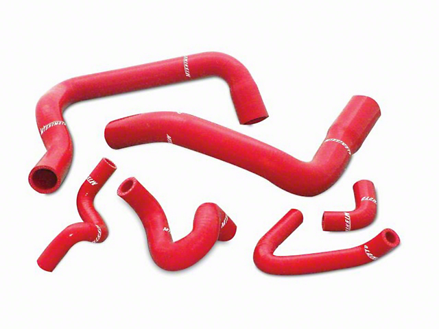 Mishimoto Silicone Radiator Hose Kit - Red (86-93 GT, Cobra)