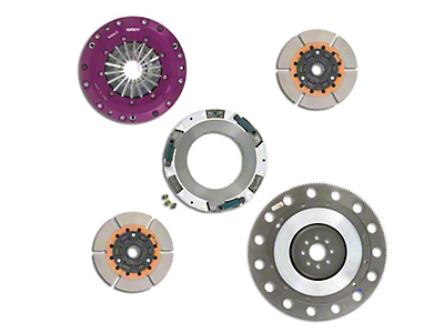 Exedy Hyper Twin Disc Clutch Kit w/ Flywheel - 26 Spline (99-Mid 01 GT; 96-04 Cobra, Mach 1)