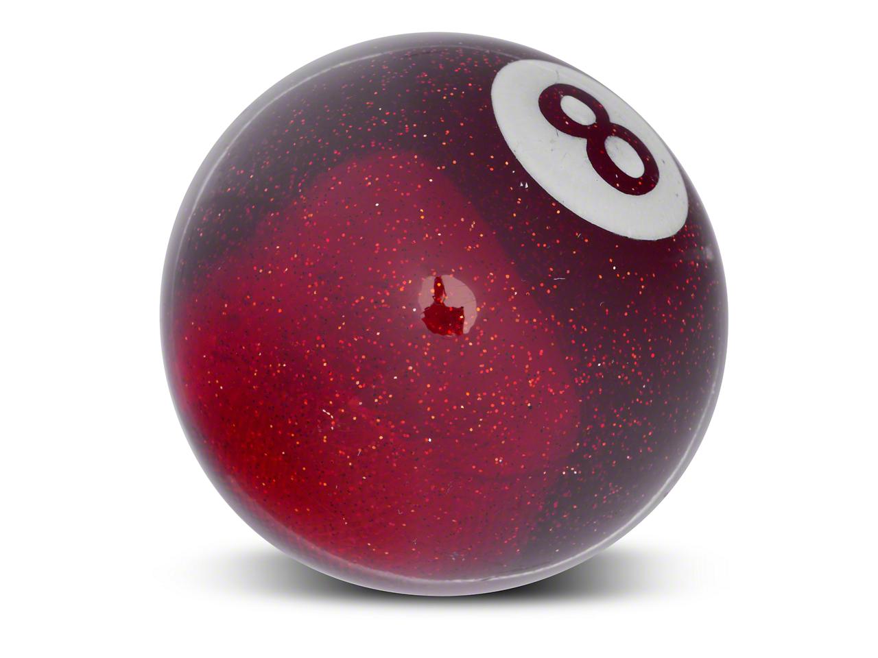Alterum Red 8 Ball Metal Flake Shift Knob (79-04 All)