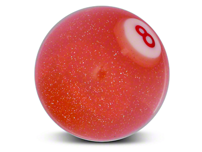 Alterum Orange 8 Ball Metal Flake Shift Knob (79-04 All)