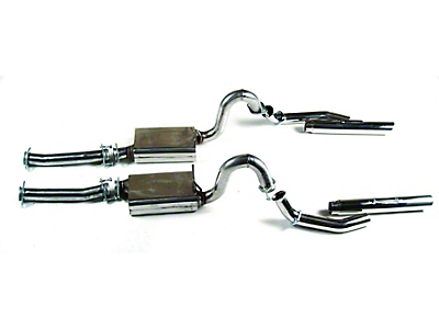 MAC Stainless Steel Cat-Back Exhaust w/ 3 in. Rolled Tips (96-04 GT; 03-04 Mach 1)