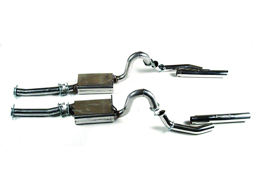MAC Stainless Steel Cat-Back Exhaust w/ 3.5 in. Non-Rolled Tips (96-04 GT; 03-04 Mach 1)