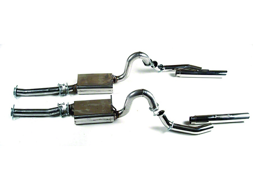 MAC Stainless Steel Cat-Back Exhaust w/ Non-Rolled Exhaust Tips (79-93 LX; 94-95 GT; 94-04 V6)