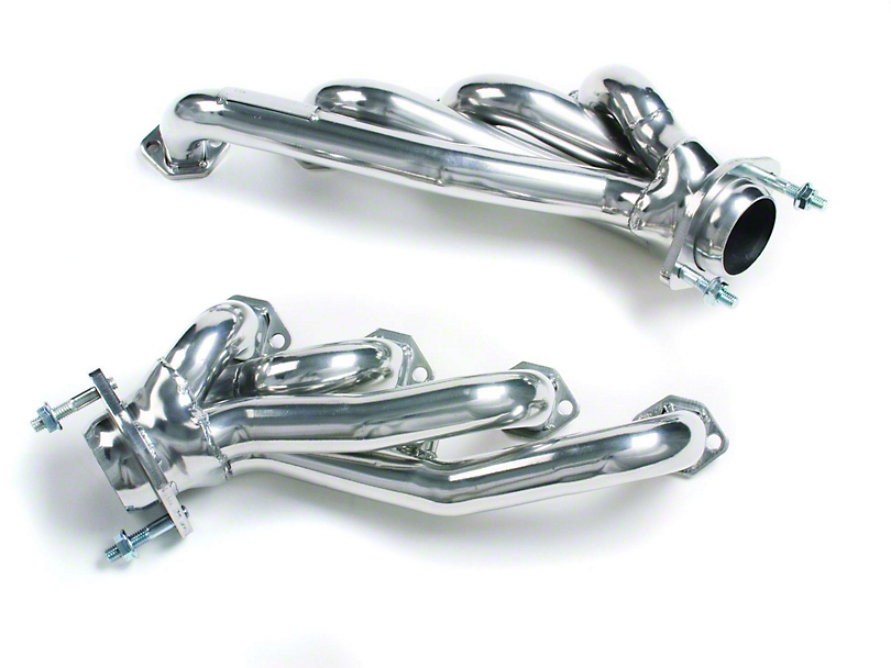 MAC 1-3/4 in. Unequal Length Polished Ceramic Shorty Headers (94-95 5.0L)