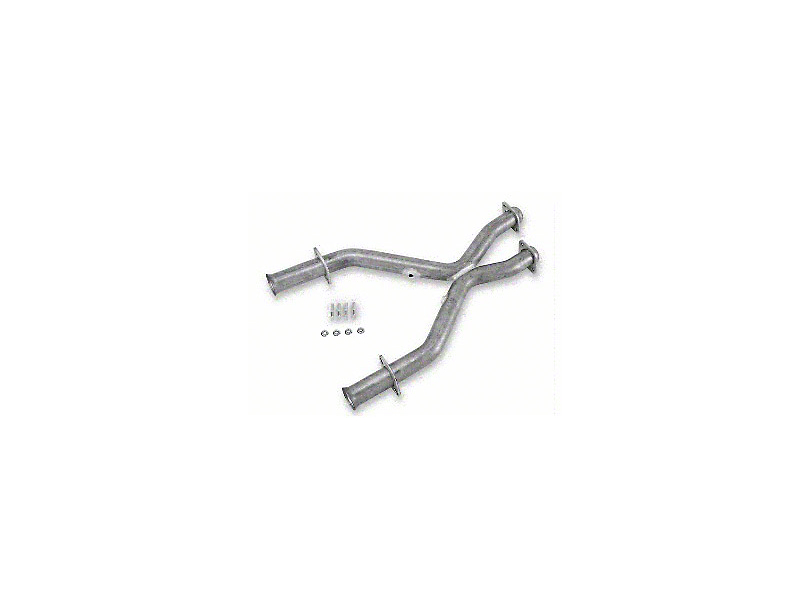 MAC 2.5 in. Aluminized Steel Off-Road X-Pipe (94-95 5.0L w/ Long Tube Headers)