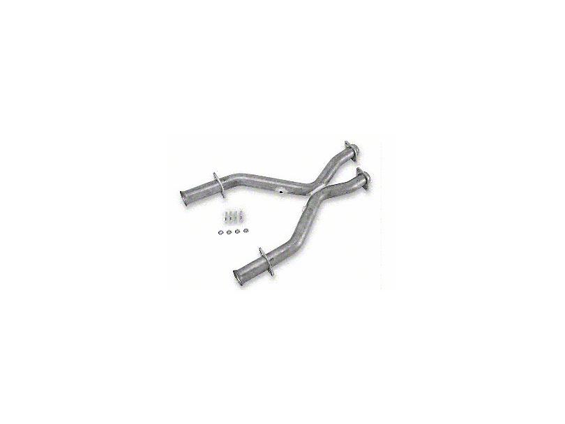 MAC 2.5 in. Aluminized Steel Off-Road X-Pipe (96-98 Cobra w/ Long Tube Headers)
