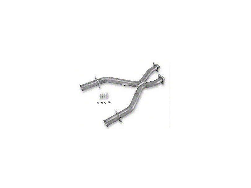 MAC 2.5 in. Aluminized Steel Off-Road X-Pipe (79-93 5.0L w/ Manual Transmission & Long Tube Headers)
