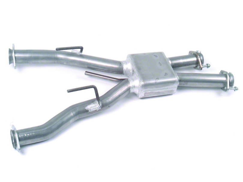 MAC Off-Road Pro Chamber Mid Pipe (79-93 5.0L w/ Automatic Transmission & Long Tube Headers)