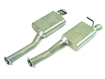 MAC 2.5 in. Aluminized Steel Pro Dump Cat-Back Exhaust (96-04 GT; 96-98 Cobra)