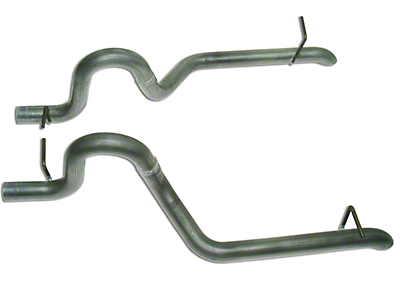 MAC 2.5 in. Aluminized Steel Replacement Tail Pipes (87-93 GT)