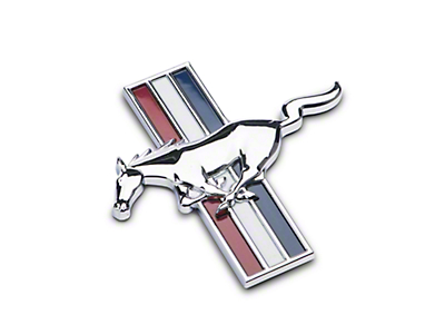 CDC Ducktail Spoiler Tri-Bar Pony Emblem (05-09 All)