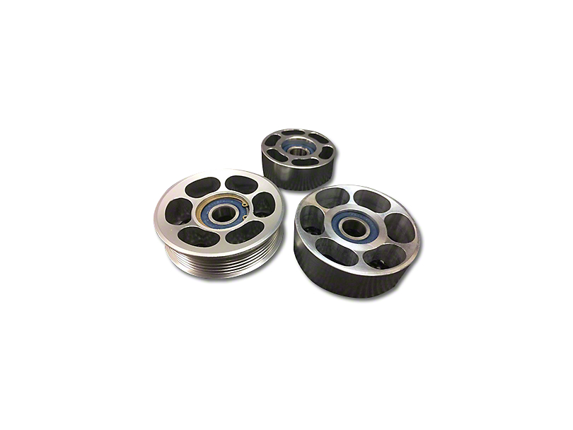 SHR Tru-Billet Idler Pulleys - Silver Anodized (96-98 GT)