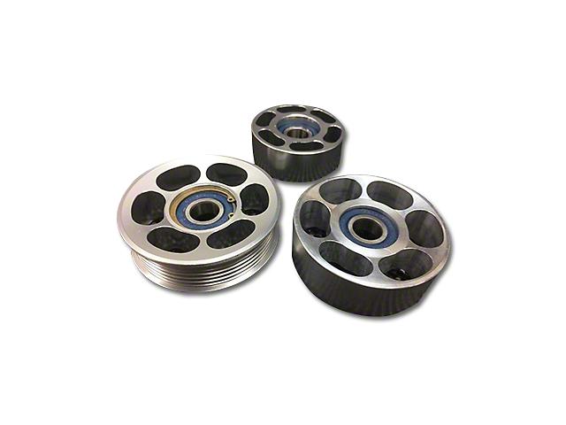 SHR Tru-Billet Idler Pulleys - Silver Anodized (05-10 V6)