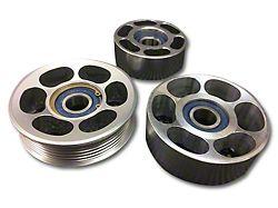 SHR Tru-Billet Idler Pulleys; Silver Anodized (05-10 V6)