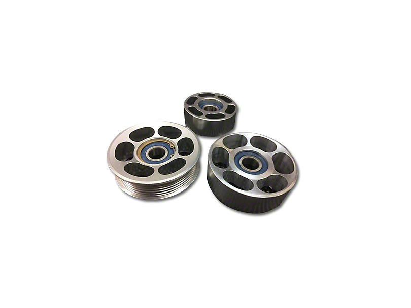 SHR Tru-Billet Idler Pulleys - Silver Anodized (11-12 GT500)