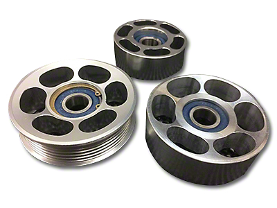 SHR Tru-Billet Idler Pulleys - Silver Anodized (13-14 GT500)