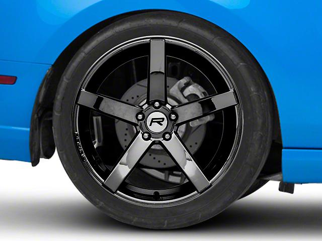 Rovos Durban Black Chrome Wheel; Rear Only; 20x10 (05-09 All)