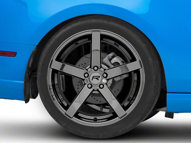 Rovos Durban Black Chrome Wheel; Rear Only; 20x10 (10-14 All)