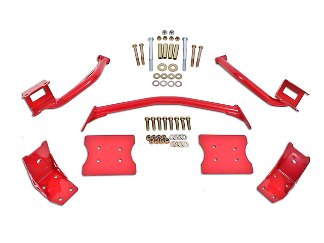 BMR Torque Box Reinforcement Plate Kit - Red (79-04 All)