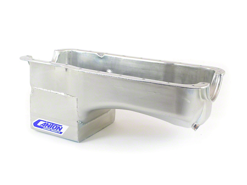 Canton Deep Rear Sump Oil Pan For use without Main Support Girdle; Street (79-93 5.0L)