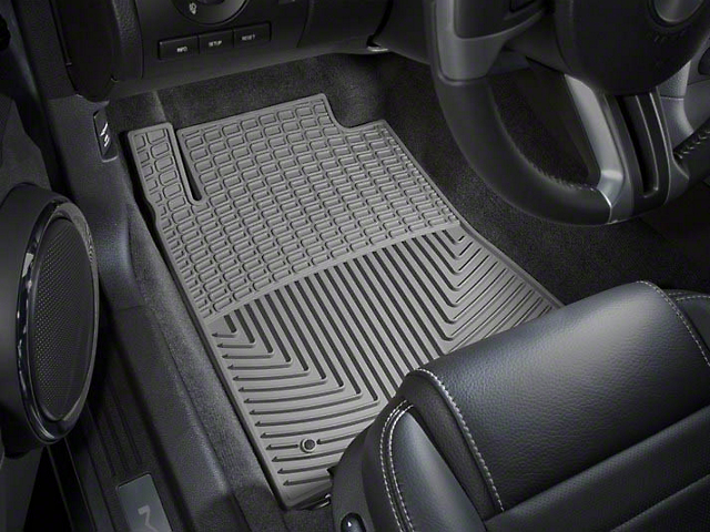 Weathertech All-Weather Front Rubber Floor Mats; Gray (09-10 All)