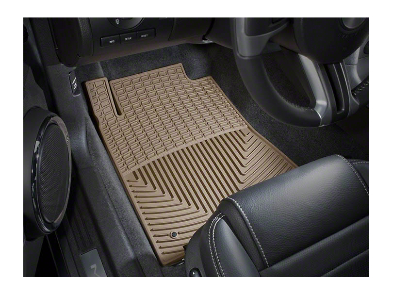 Weathertech All Weather Front Rubber Floor Mats - Tan (10-14 All)