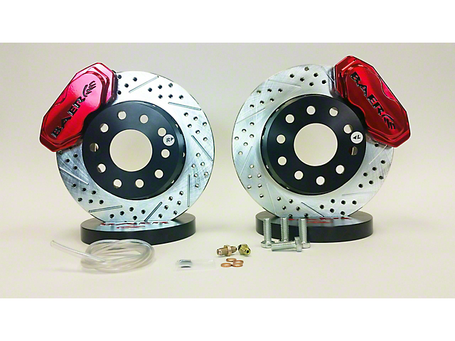 Baer SS4 Plus Deep Stage Drag Race Front Big Brake Kit; Fire Red Calipers (05-14 All)