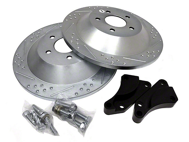 Baer EradiSpeed1 Drilled and Slotted Rotors; Rear Pair (94-04 GT, V6)