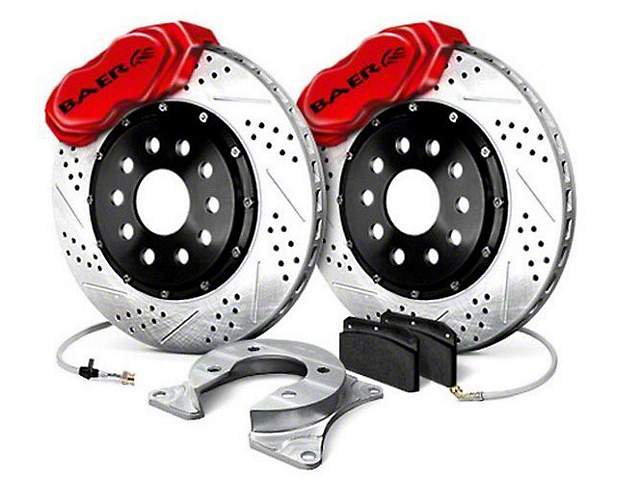 Baer SS4 Plus Rear 4-Lug Brake Kit - Red (79-93 All)