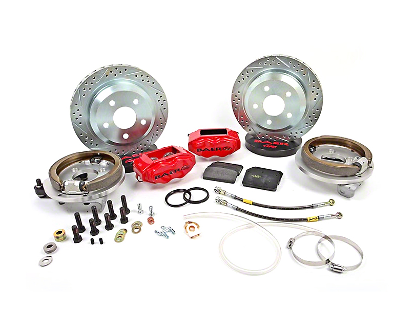 Baer SS4 Rear 4-Lug Brake Kit - Red (79-93 All)