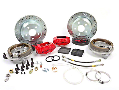 Baer SS4 Rear 5-Lug Brake Kit - Red (79-93 All)