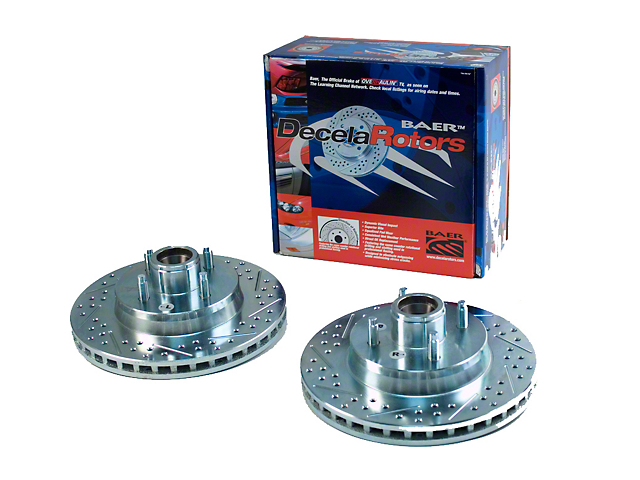 Baer Sport Drilled and Slotted Rotors; Front Pair (87-93 GT)