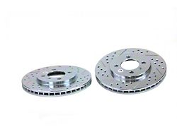 Baer Sport Drilled and Slotted Rotors; Rear Pair (1993 Cobra)