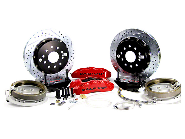 Baer Pro Plus Rear Big Brake Kit; Red Calipers (94-04 All, Excluding 99-04 Cobra)