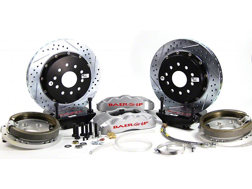 Baer Pro Plus Rear Big Brake Kit; Silver Calipers (94-04 All, Excluding 99-04 Cobra)
