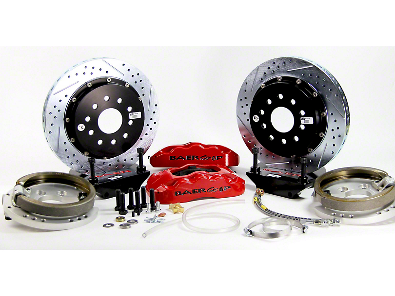 Baer Pro Plus Rear 4-Lug Big Brake Kit w/ 14 in. Rotors - Red Calipers (79-93 All)