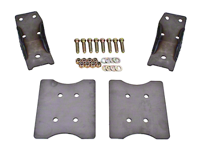 BMR Lower Torque Box Reinforcment Plates - Hammertone (79-04 All)