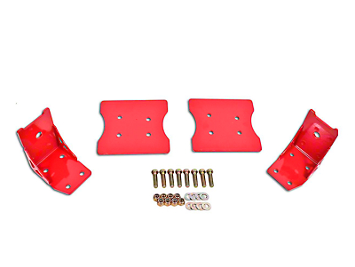 BMR Lower Torque Box Reinforcment Plates - Red (79-04 All)